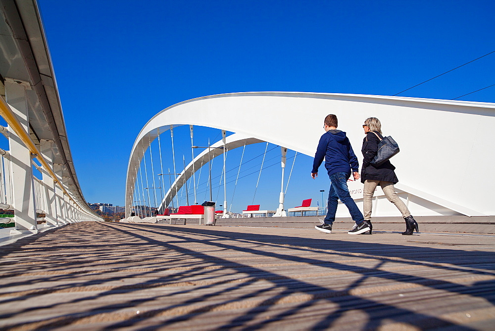 Raymond Barre Bridge, Lyon, Auvergne-Rhone-Alpes, France, Europe