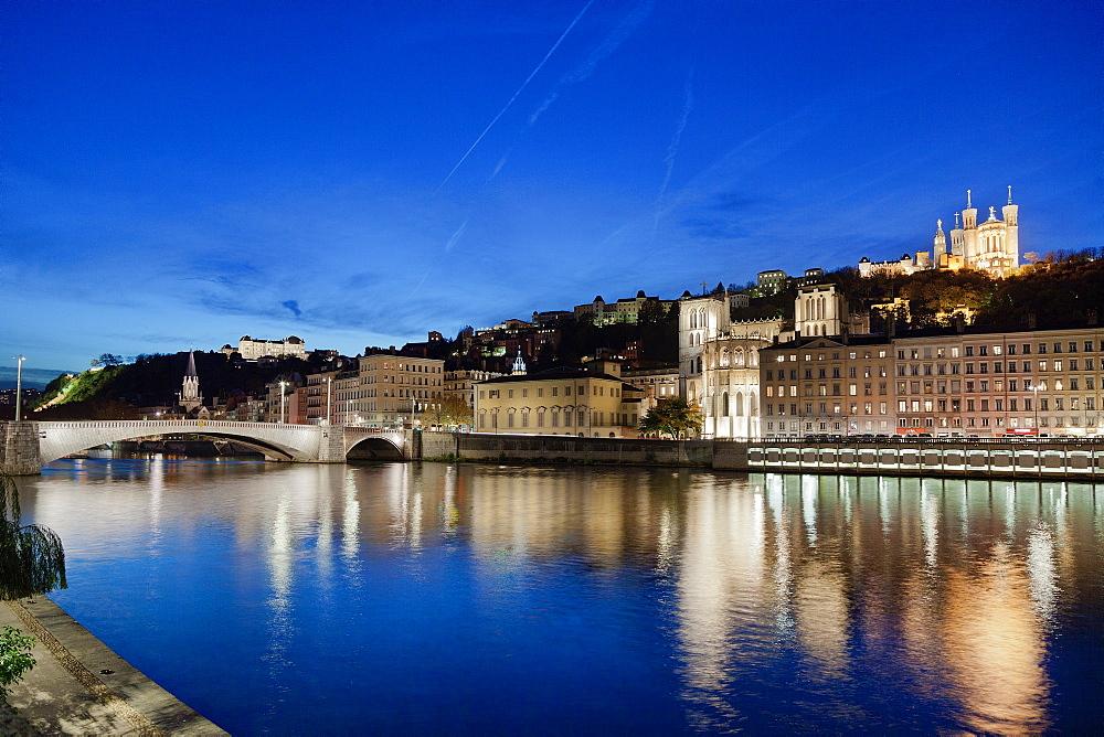 Pont Bonaparte, Lyon, Auvergne-Rhone-Alpes, France, Europe
