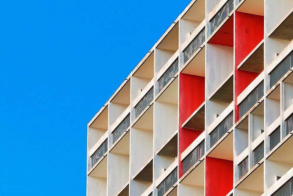 Unite d'Habitation, Site Le Corbusier, Firminy, Loire Department, Auvergne-Rhone-Alpes, France, Europe