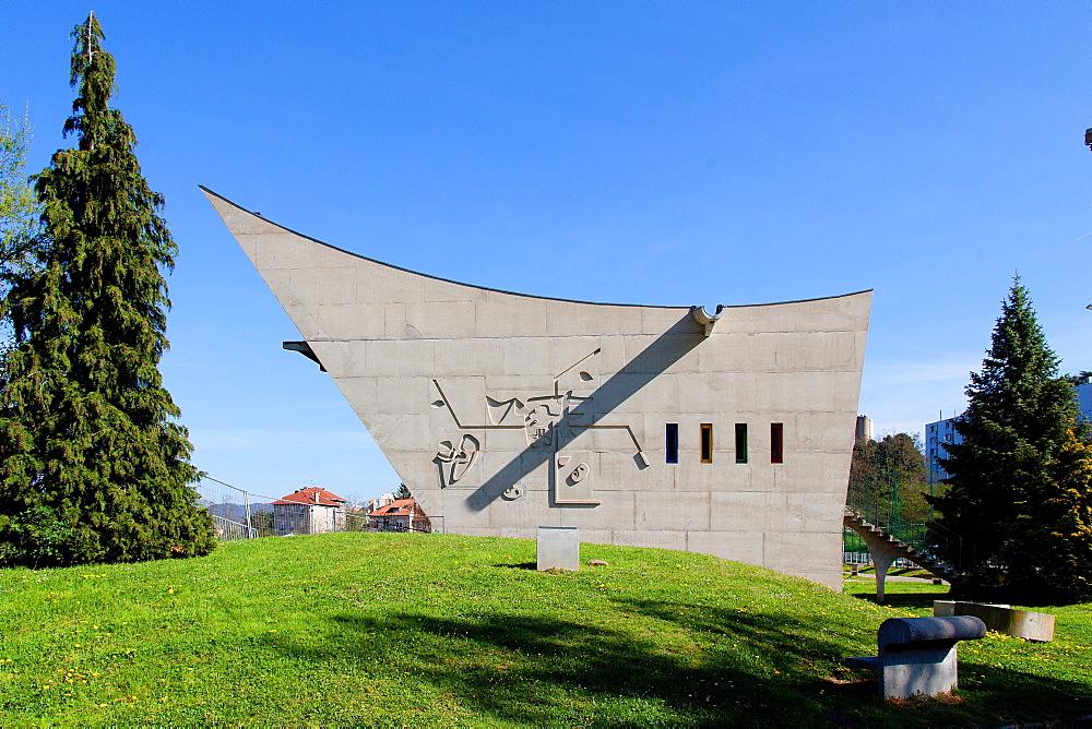 Le Corbusier's Maison de la Culture, Site Le Corbusier, Firminy, Loire Department, Auvergne-Rhone-Alpes, France, Europe