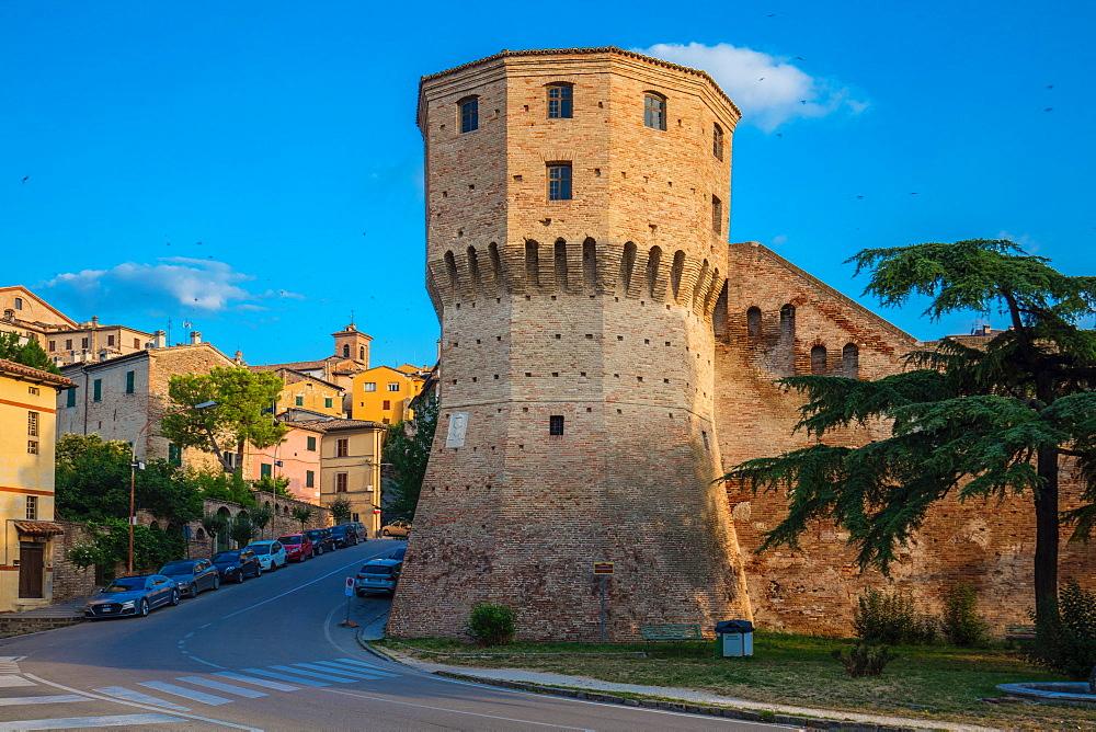 Torrione di Mezzogiorno, Historic Centre, Jesi, Ancona, Italy, Europe