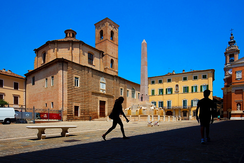 Piazza Federico II, Old Town of Jesi, Marche, Italy, Europe