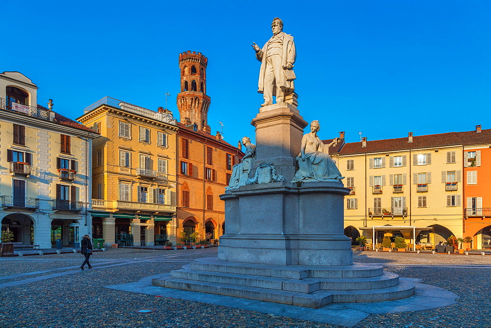 Piazza Cavour, Vercelli, Piedmont, Italy, Europe