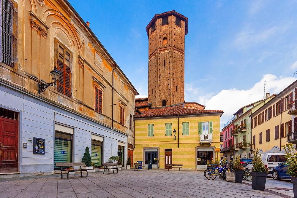 Avogadro tower, Vercelli, Piedmont, Italy, Europe