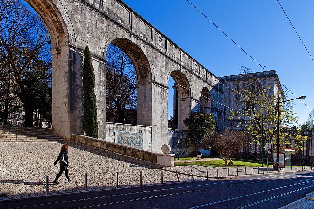 Old Aqueduct, Lisbon, Portugal, Europe