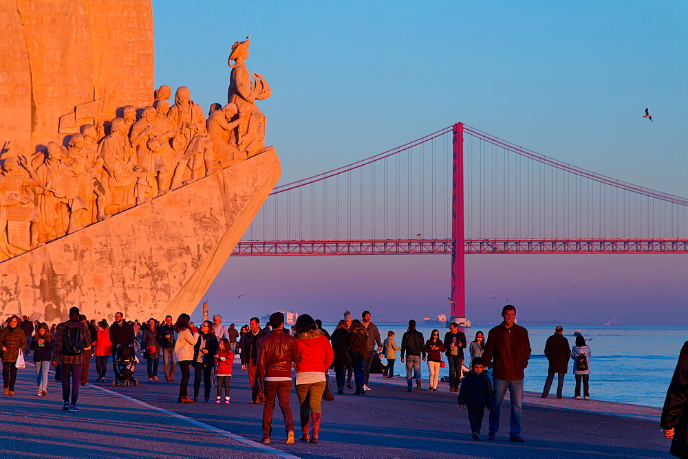 Padrao dos Descobrimentos (Monument to the Discoveries), Belem, Lisbon, Portugal, Europe