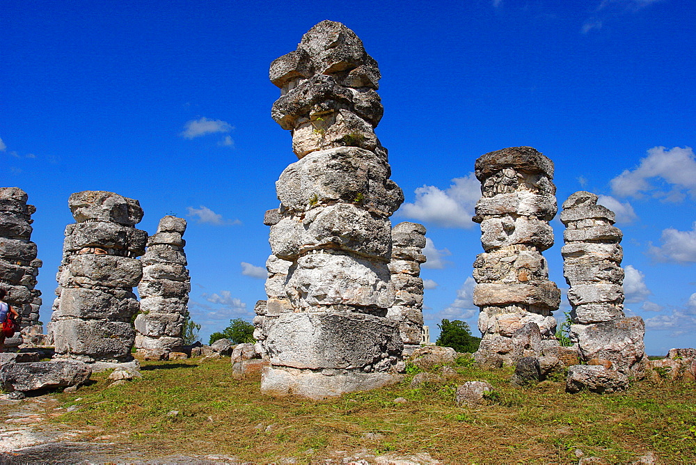 The archaeological site of the pre-Columbian Maya civilization Ake, Yucatan, Mexico, North America