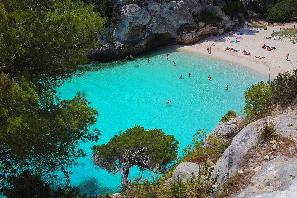Mitjanera beach, Minorca, Balearic Islands, Spain