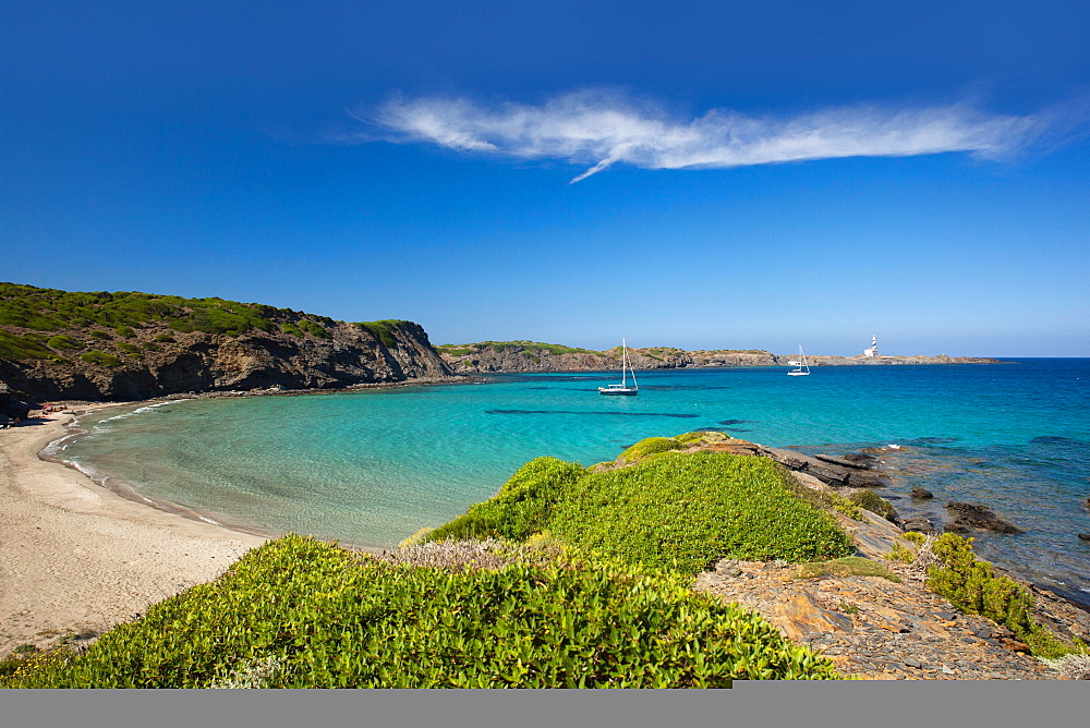 Cala Tortuga Beach, Minorca, Balearic Islands, Spain, Mediterranean, Europe - 1292-1473