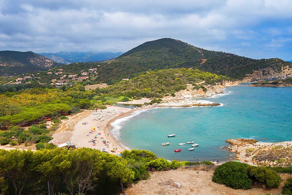 Spiaggia di Su Giudeu beach, near the village of Chia, Sardinia, Italy, Europe - 1292-1497