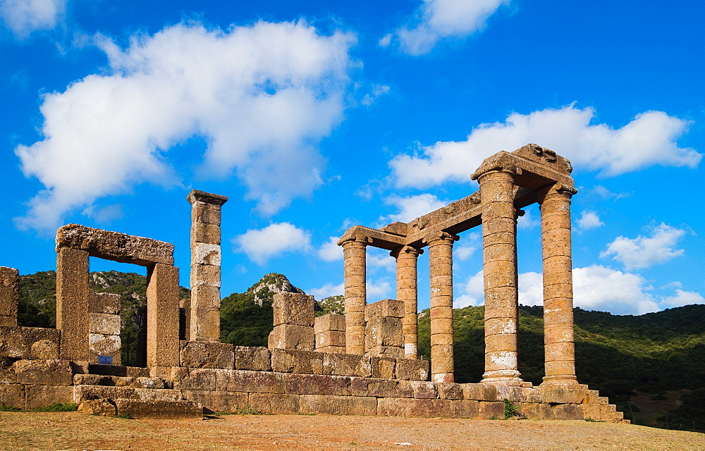 Antas temple, and ancient temple in  Fluminimaggiore, Iglesiente, Sardinia, Italy, Europe - 1292-1498