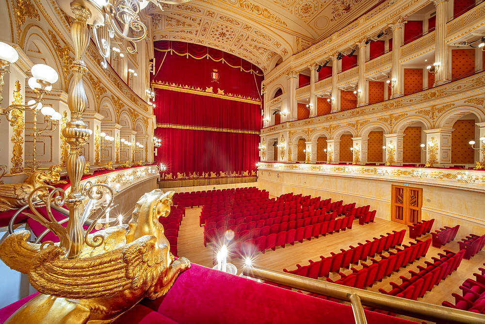 Galli Theater, Piazza Cavour, Rimini, Emilia Romagna, Italy, Europe