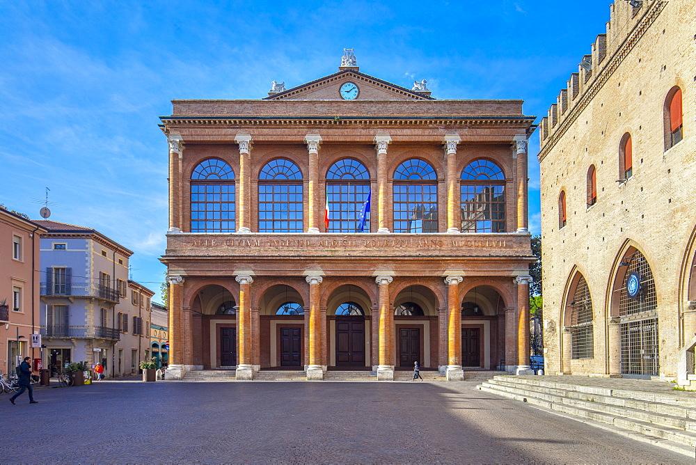 Galli Theater, Piazza Cavour, Rimini, Emilia Romagna, Italy Europe