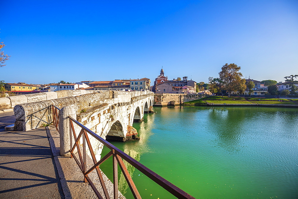 The Bridge of Tiberius, Rimini, Emilia Romagna, Italy, Europe