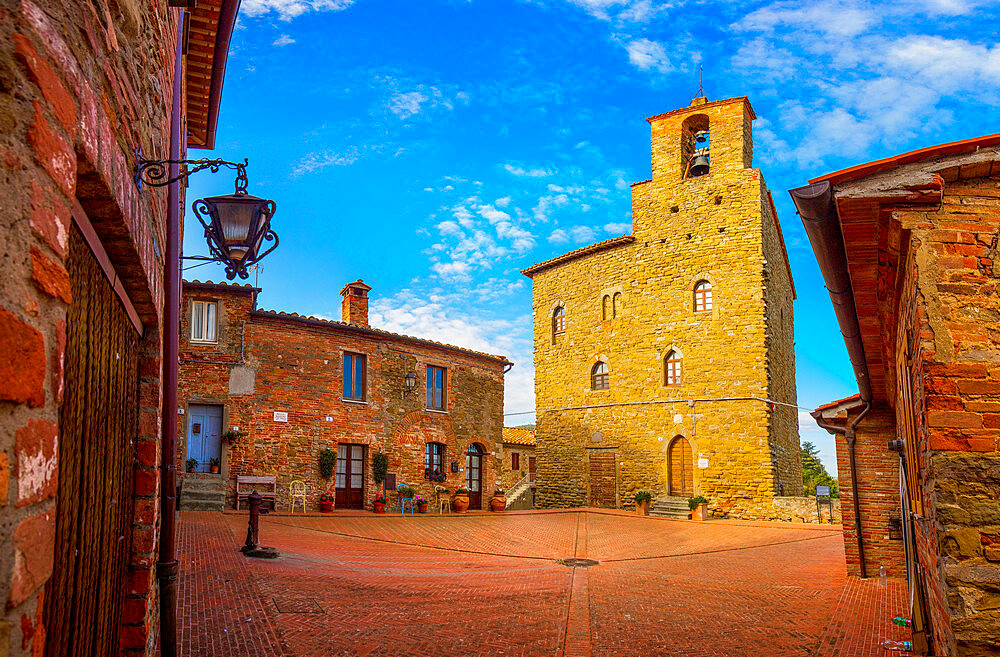 The Podesta Palace, Panicale, Umbria, Italy, Europe
