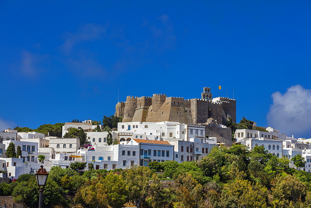 Chora of Patmos, Dodecanese, Greek Islands, Greece, Europe