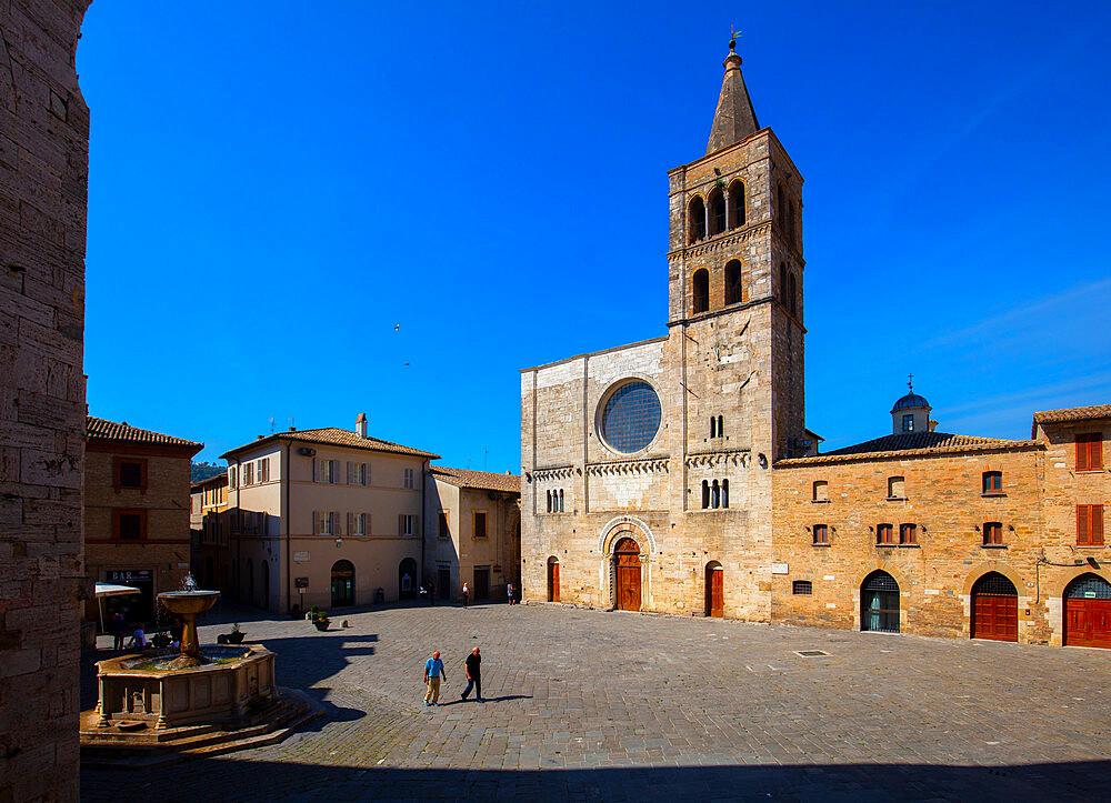 Piazza Silvestri, Bevagna, Perugia, Umbria, Italy