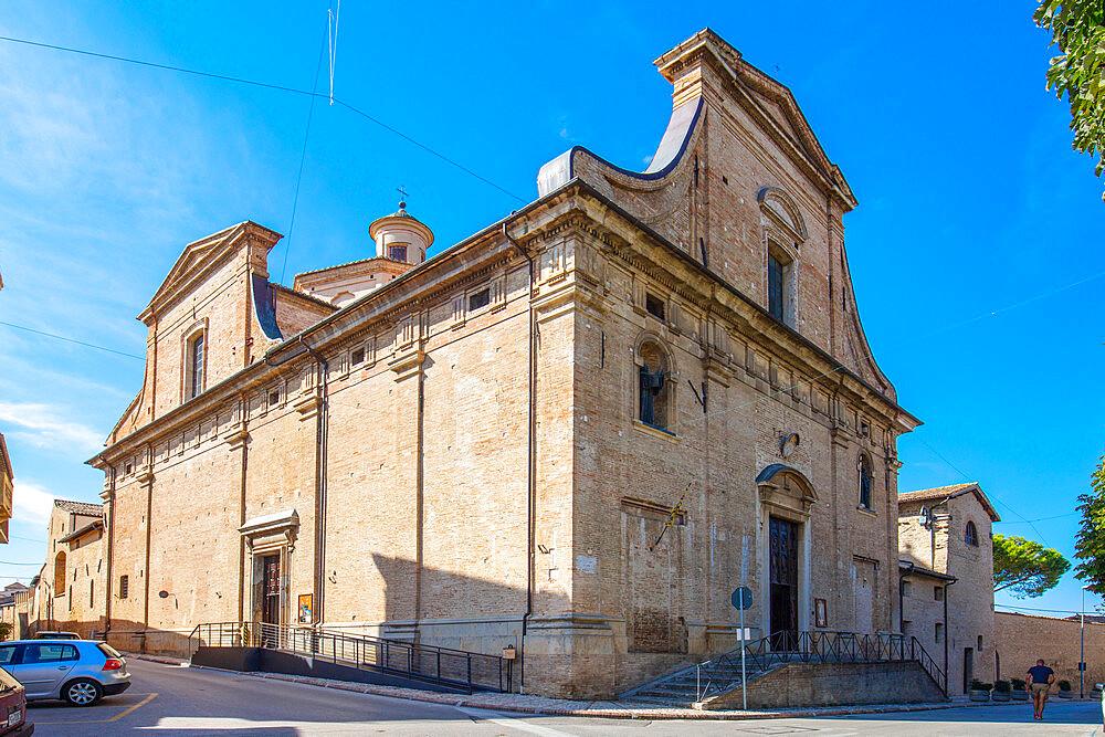 Santa Chiara Church, Montefalco, Perugia, Umbria, Italy