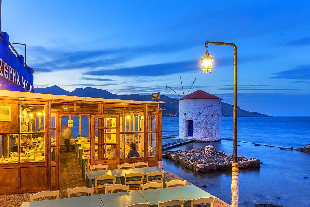 Mill at Agia Marina, Leros Island, Dodecanese, Greek Islands, Greece, Europe