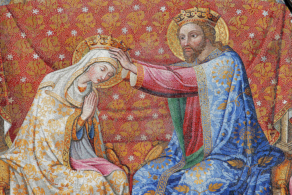 Coronation of Mary, by R.Cocchi, R.Castellini, and G. Kibel (1842-1847), Cathedral of Santa Maria Assunta, Orvieto, Terni, Umbria, Italy