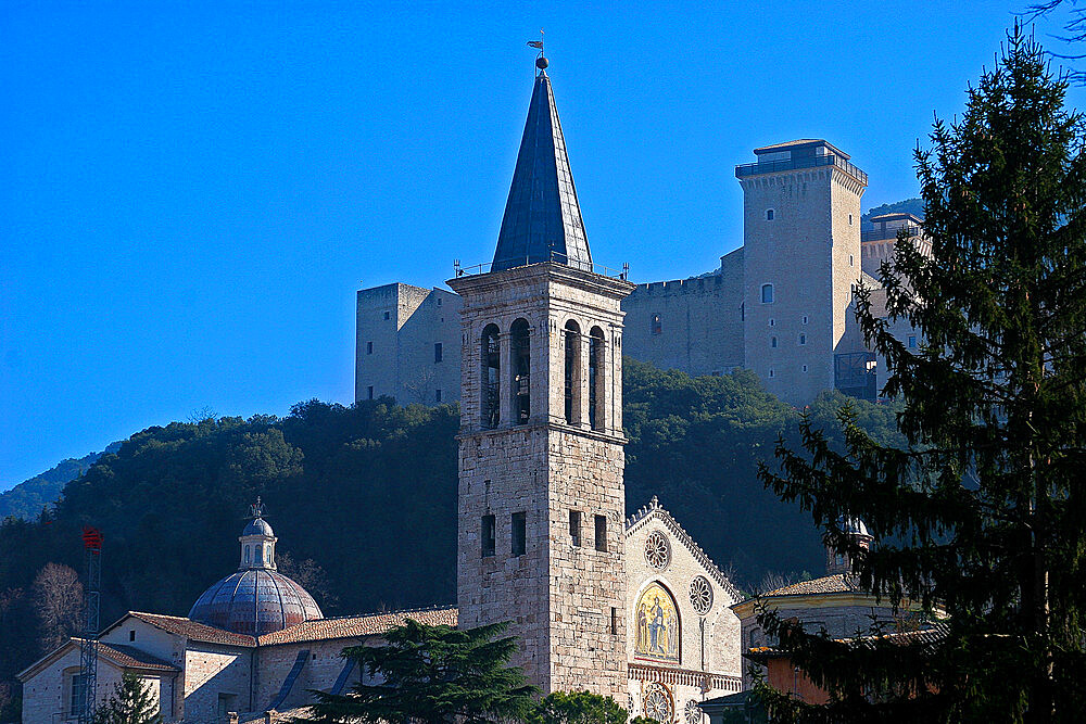 Cathedral of Santa Maria Assunta, Spoleto, Perugia, Umbria, Italy, Europe - 1292-1649