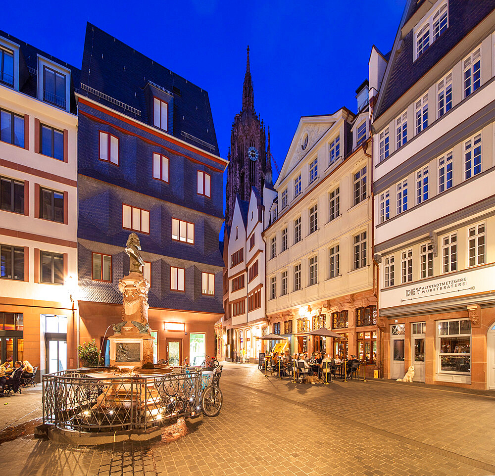 New Old town, Frankfurt am Main, Hesse, Germany, Europe - 1292-1658