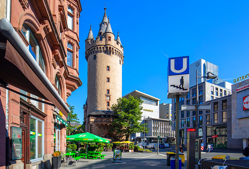 The Escheinheimer Tor, Frankfurt am Main, Urban district, Hesse, Darmstadt, Germany