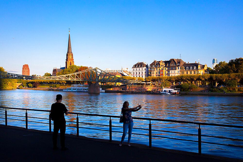 Main River, Frankfurt am Main, Hesse, Germany, Europe - 1292-1671