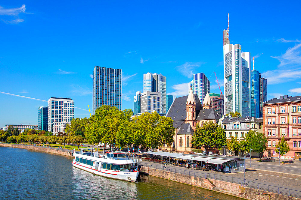 Cruise on the Main River, Frankfurt am Main, Urban district, Hesse, Darmstadt, Germany