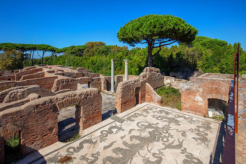 Terme di Nettuno, Ostia Antica, Rome, Lazio, Italy, Europe - 1292-1685