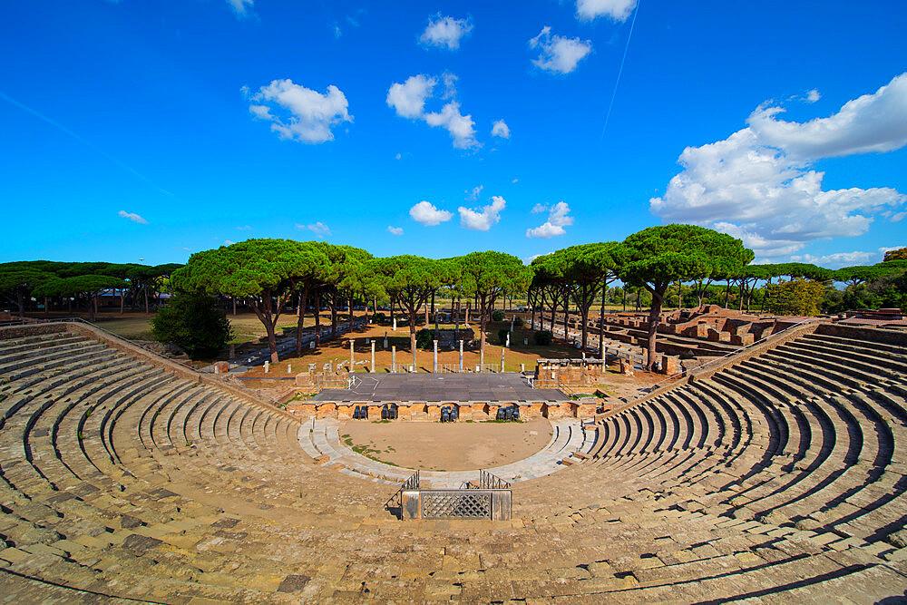 The theatre, Ostia Antica, Rome, Lazio, Italy, Europe