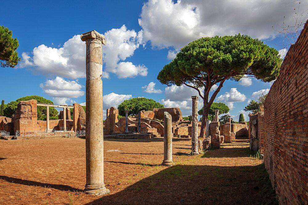 Surroundings of the Terme del Foro, Ostia Antica, Rome, Lazio, Italy, Europe - 1292-1692