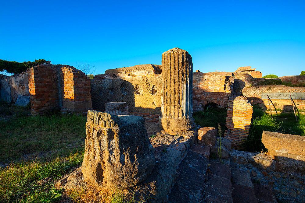 Temple of Tetrastilo, Ostia antica, Roma, Lazio, Italy.