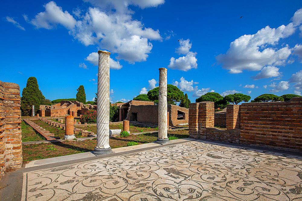 Schola di Traiano, Ostia Antica, Rome, Lazio, Italy, Europe - 1292-1700