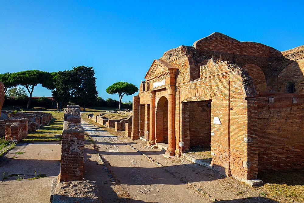 Horrea Epaghatiana, Ostia Antica, Rome, Lazio, Italy, Europe - 1292-1701