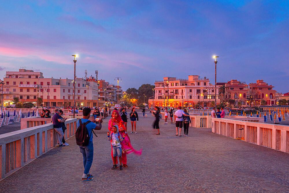 Pier of the Lido di Ostia, Rome, Lazio, Italy, Europe - 1292-1704