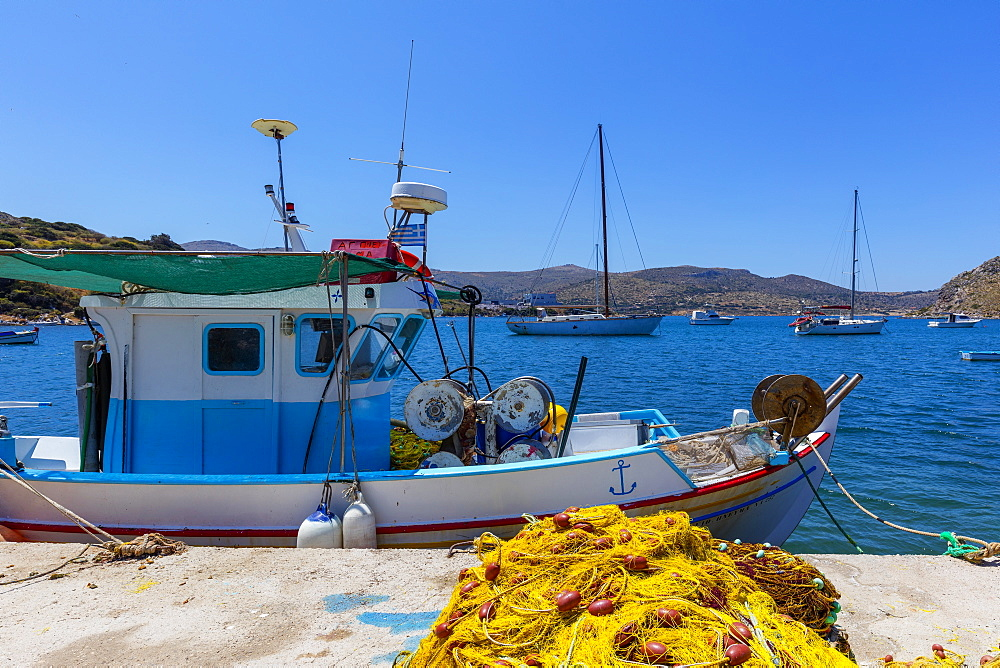 Port of Rina, Leros Island, Dodecanese, Greek Islands, Greece, Europe