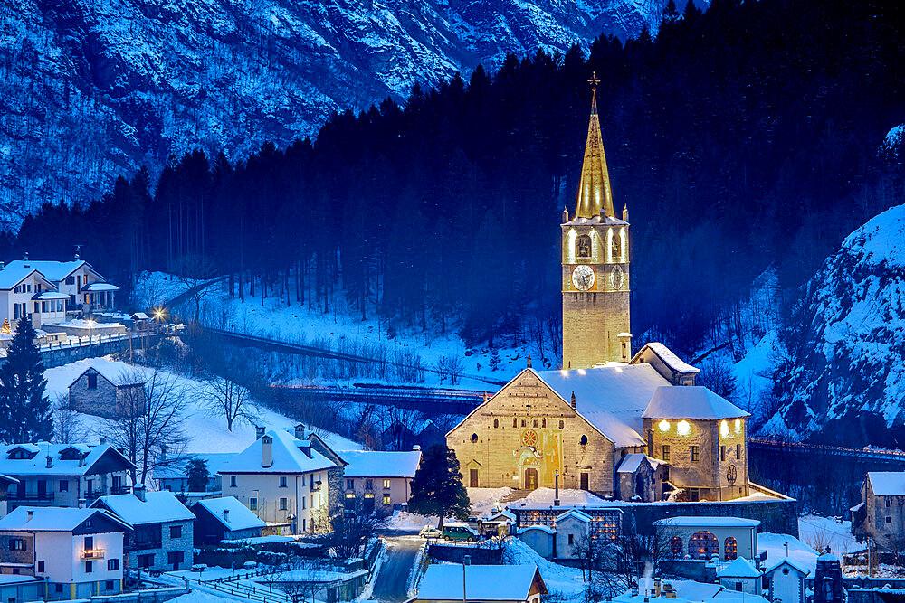 Monumental Parish Church of San Gaudenzio, Baceno, Val d'Ossola, Verbano Cusio Ossola, Piemonte, Italy, Europe - 1292-1721