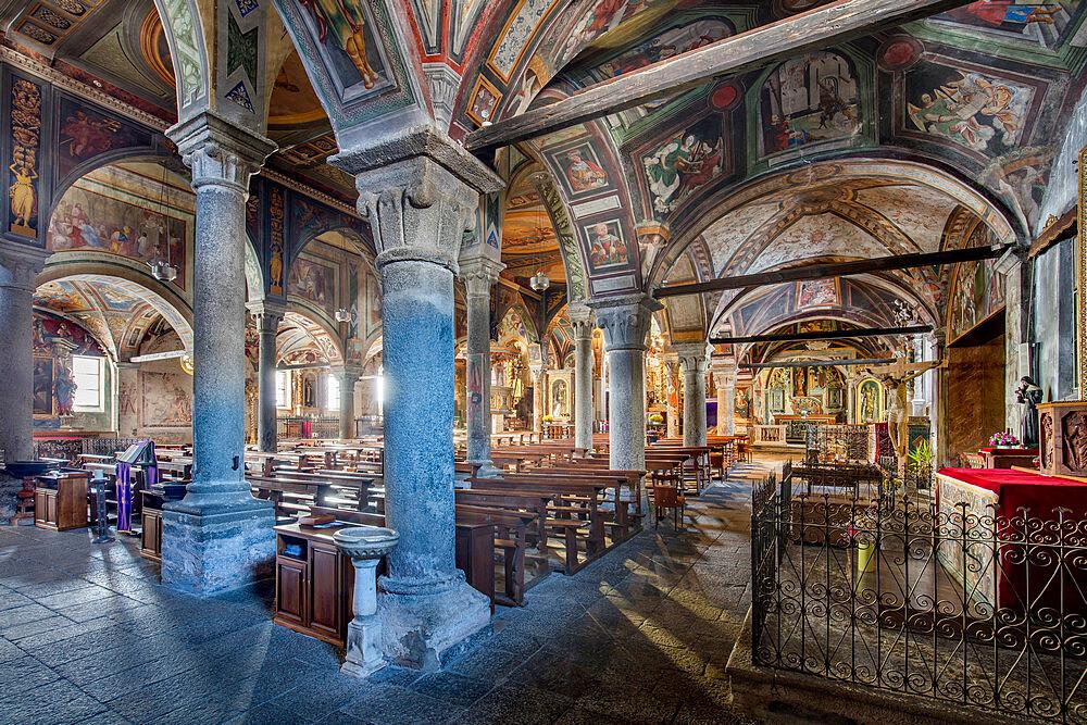 Monumental Parish Church of San Gaudenzio, Baceno, Val d'Ossola, Verbano Cusio Ossola, Piemonte, Italy, Europe - 1292-1722