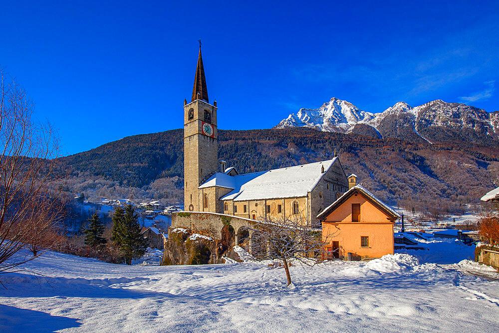 Monumental Parish Church of San Gaudenzio, Baceno, Val d'Ossola, Verbano Cusio Ossola, Piemonte, Italy, Europe - 1292-1723