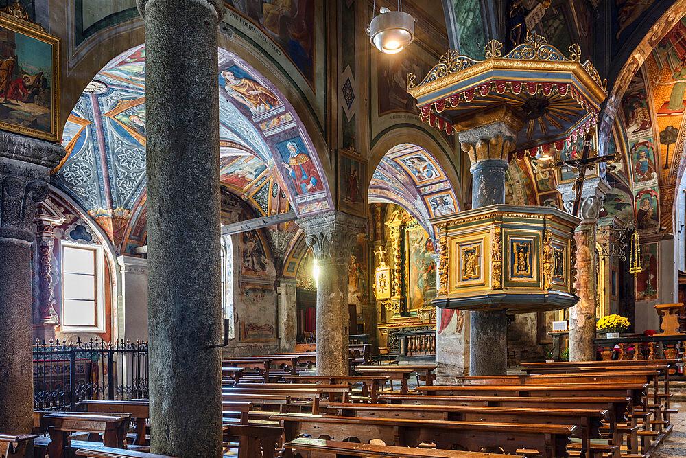Monumental Parish Church of San Gaudenzio, Baceno, Val d'Ossola, Verbano Cusio Ossola, Piemonte, Italy, Europe - 1292-1724