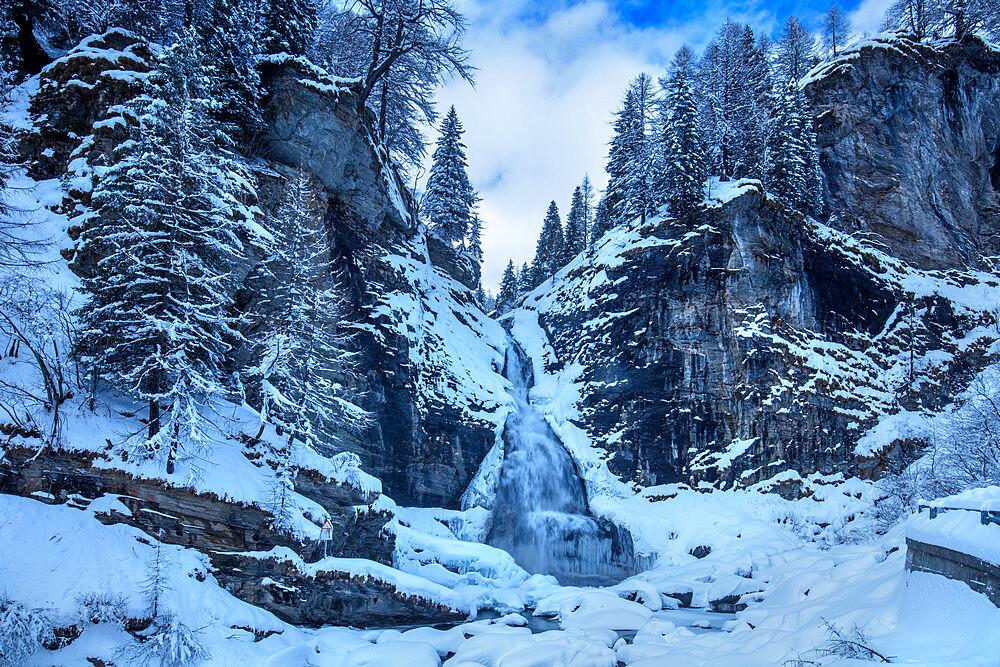 The Devil's waterfall, Alpe Devero, Val d'Ossola, Verbano Cusio Ossola, Piemonte, Italy, Europe - 1292-1725