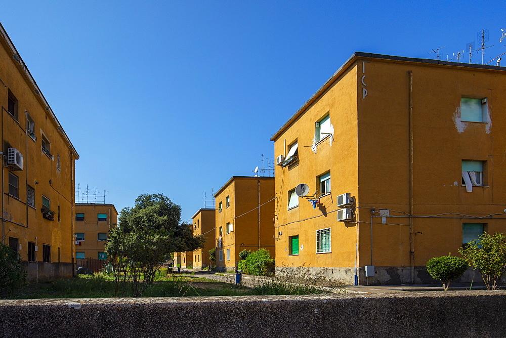Popular houses of the fascist era, Latina (Littoria), Latina, Lazio, Italy, Europe - 1292-1734