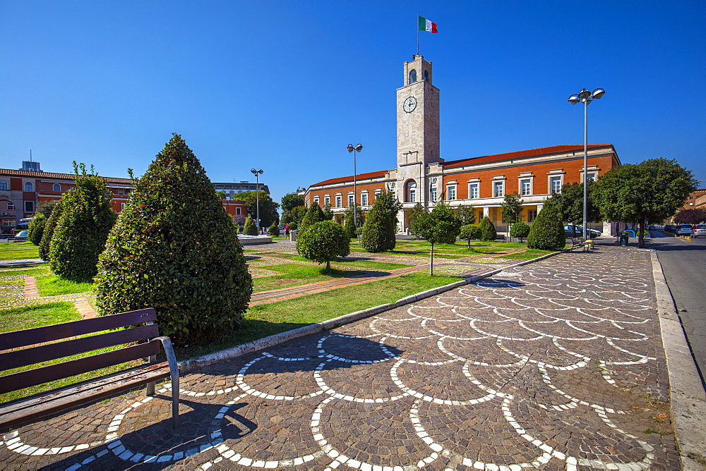 City Hall, Latina (Littoria), Latina, Lazio, Italy, Europe