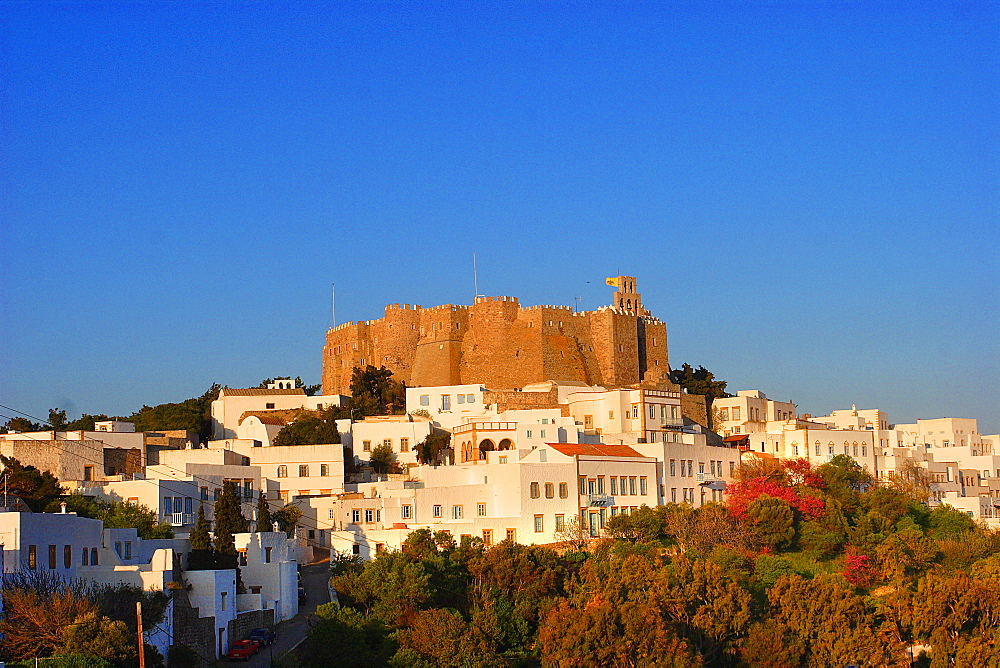 The Monastery of Saint John the Theologian, UNESCO World Heritage Site, Patmos, Dodecanese, Greek Islands, Greece, Europe