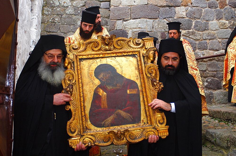 The Monastery of Saint John the Theologian,Easter in Patmos,Patmos, Greece