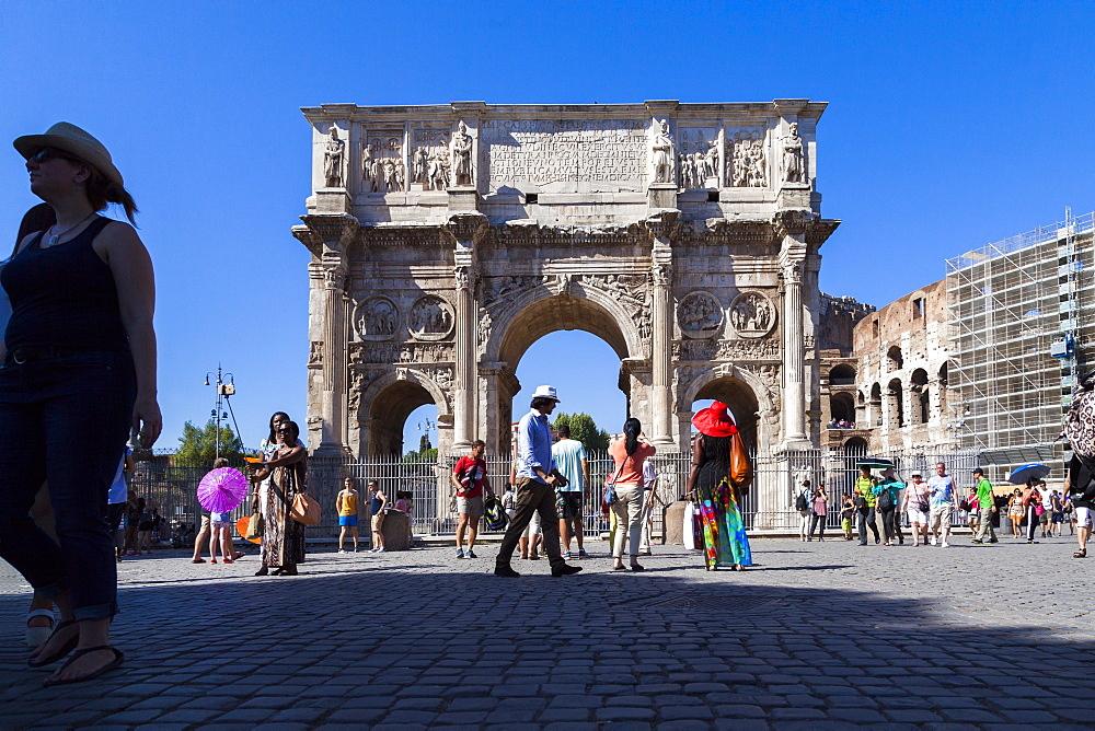 Arco di Costantino (Arch of Constantine), Rome, Lazio, Italy, Europe