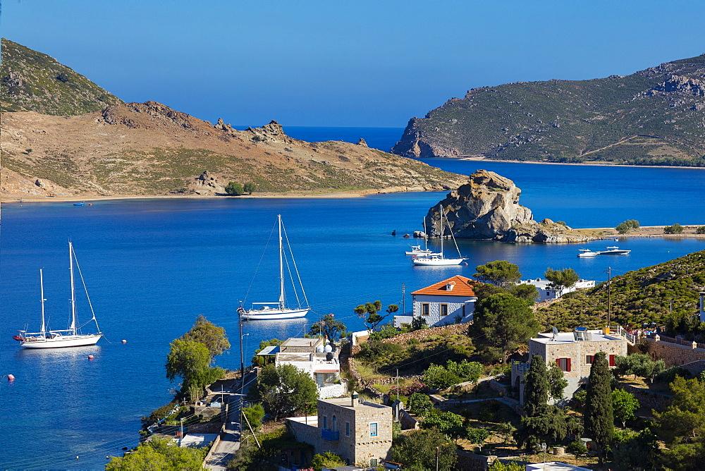 Petra Beach, Patmos, Dodecanese, Greek Islands, Greece, Europe