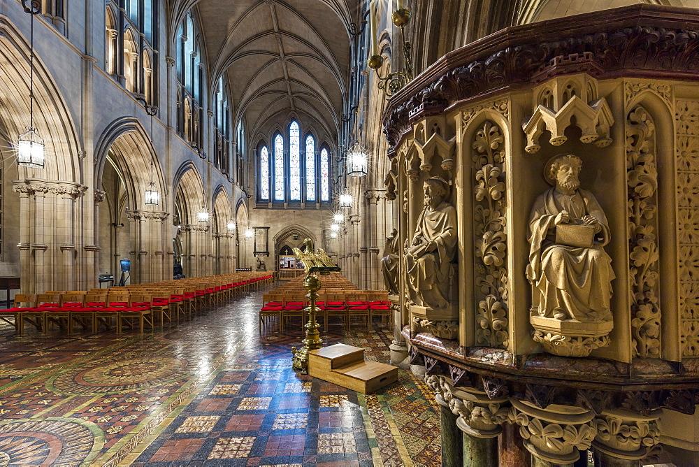 The main nave, Christ Church, Dublin, Republic of Ireland, Europe