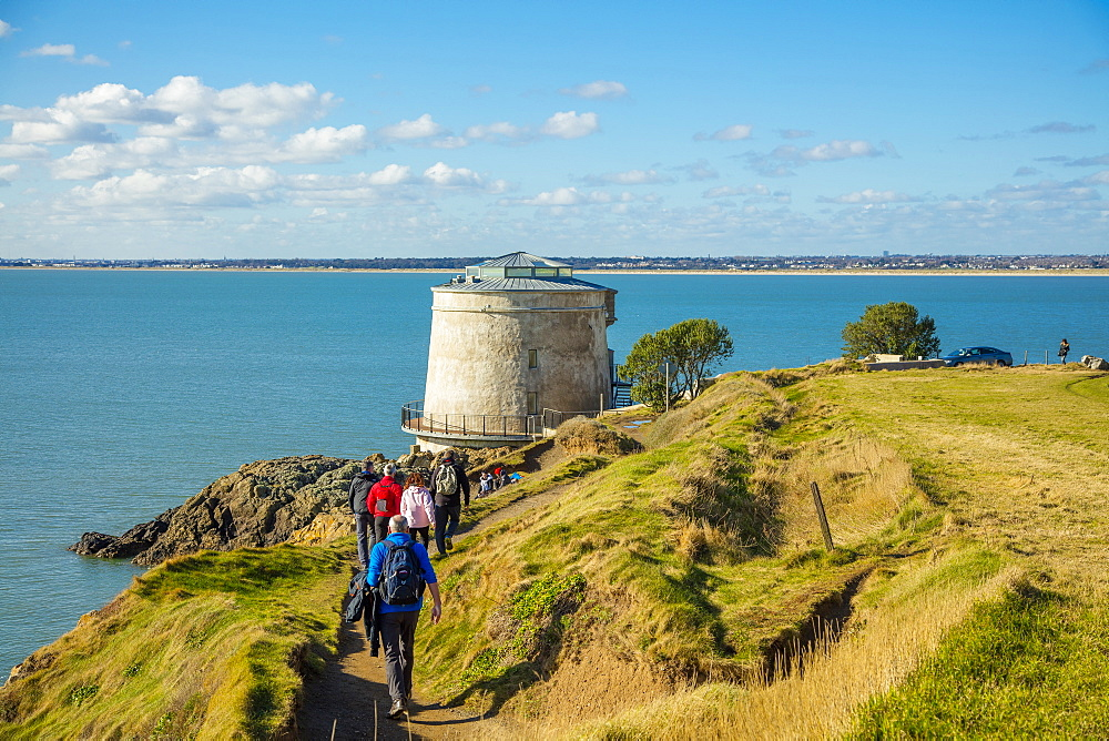 Martello Tower, The Cliff Path, Howth, County Dublin, Leinster, Republic of Ireland, Europe